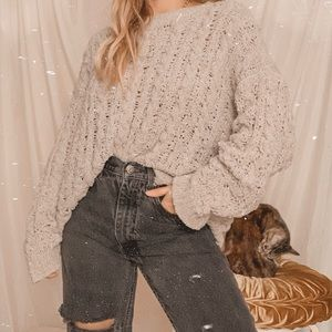 American eagle chenille knit chunky soft sweater